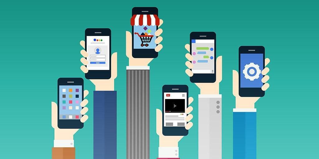 celulares com aplicativos instalados
